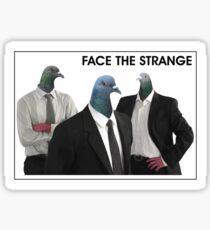 Business Pigeon Trio Sticker