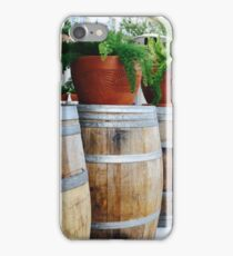 Red Clay Pots on Wooden Barrels iPhone Case/Skin