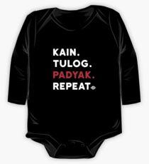 Kain Tulog Padyak Repeat - Funny Pinoy MTB One Piece - Long Sleeve