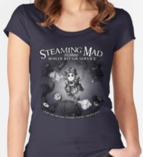Steaming Mad Boiler Repair Women's Fitted Scoop T-Shirt