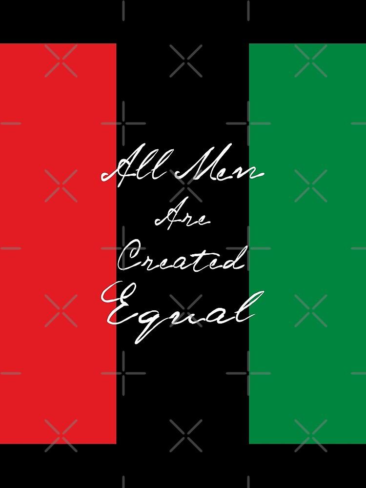 Alle Männer sind gleich Afro-Flagge von EthosWear