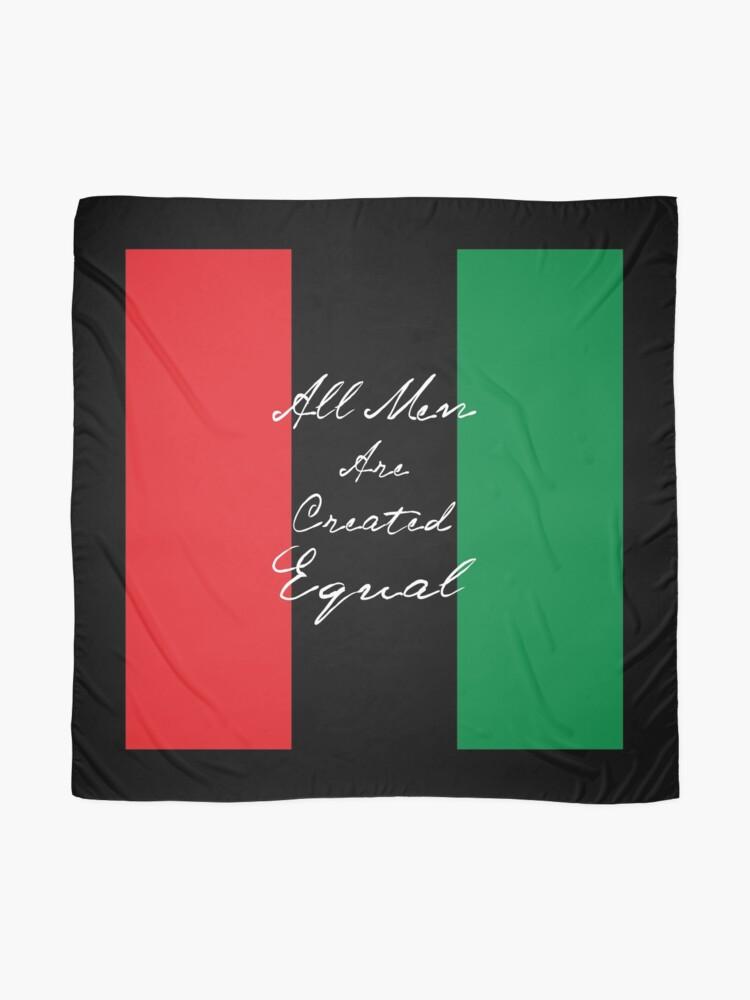 Alternative Ansicht von Alle Männer sind gleich Afro-Flagge Tuch
