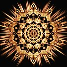 Golden Spirit Glowing Gold Mandala by ImageMonkey