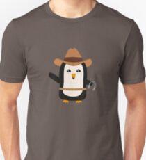 Cowboy Penguin Wild West Rb0s6 T-Shirt