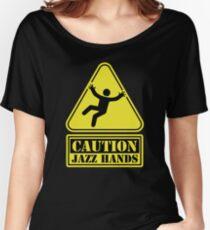 CAUTION Jazz Hands Women's Relaxed Fit T-Shirt