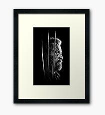 Logan Faded Bust Framed Print