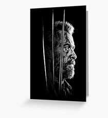 Logan Faded Bust Greeting Card