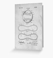 Baseball original patent art Greeting Card