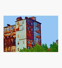 There's a rusty building in town Photographic Print