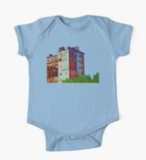 There's a rusty building in town One Piece - Short Sleeve