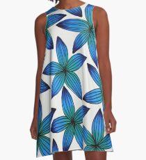 Peacock Flower A-Line Dress