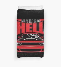 Give'em Hell Dodge Challenger Duvet Cover