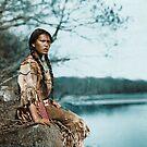 Ponemah by the Lake - Ojibwe Woman - American Indian by DanKeller
