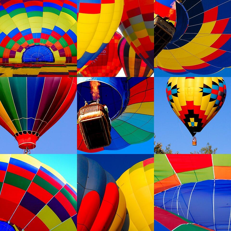 Colorful Hot Air by Cynde143