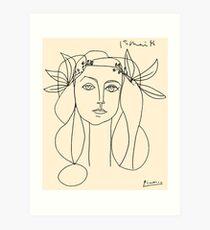HEAD 1946: Vintage Abstract Print Kunstdruck