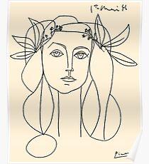 Póster CABEZA 1946: impresión abstracta de la vendimia