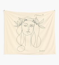 HEAD 1946 : Vintage Abstract Print Wall Tapestry