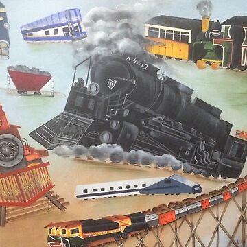 Trains by LindaCorbitt