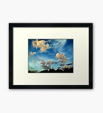 Cloudy Blue Skies Forever - Gorgeous Nature Print Framed Print