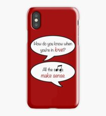 how do you know when you're in love? iPhone Case