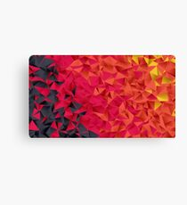 Low Resolution Poly-Designed Flame Canvas Print
