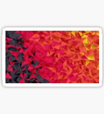 Low Resolution Poly-Designed Flame Sticker