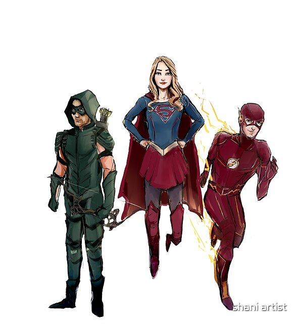 arrowverse by nishnoosh
