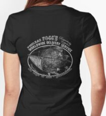 Phileas Fogg's Remarkably Expedient Delivery Service Women's Fitted T-Shirt