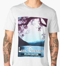Lake Crescent - Landscapes of America Men's Premium T-Shirt