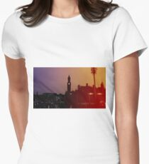 Rainbow City Silhouette Womens Fitted T-Shirt