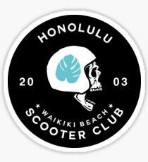 Honolulu Scooter Club Sticker