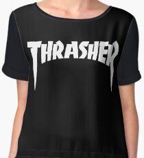 "THRASHER ""BLACK"" Women's Chiffon Top"