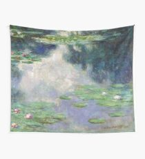 Pond with Water Lilies Monet Fine Art Wall Tapestry
