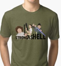 Strong as Hell (Galactic Gals Version) Tri-blend T-Shirt