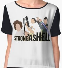 Strong as Hell (Galactic Gals Version) Women's Chiffon Top