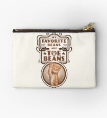 My Favorite Beans Are Toe Beans (Cat) Zipper Pouch