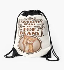 My Favorite Beans Are Toe Beans (Cat) Drawstring Bag