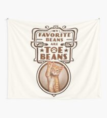 My Favorite Beans Are Toe Beans (Cat) Wall Tapestry
