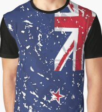 New Zealand Grunge Vintage Flag Graphic T-Shirt