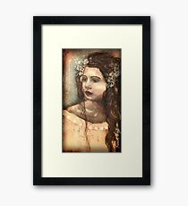 Artwork by Karen Knight Veal entitled Evelyn Framed Print