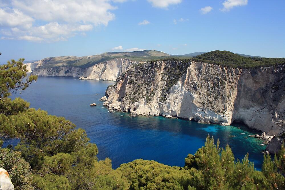 Zakynthos cliffs  by John Quinn