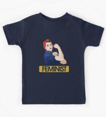 Rosie Riveter Feminist Kids Tee