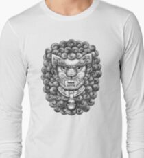 Foo Dog / Guardian Lion Pattern - Black and White T-Shirt