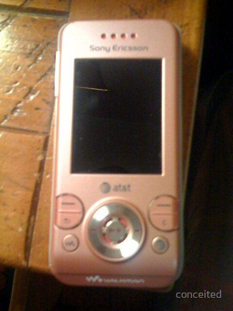 Pink Sony Ericson Walkman Cell Phone by conceited