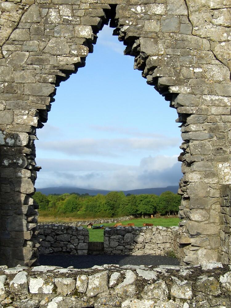 Kilmacduagh church arch view by John Quinn