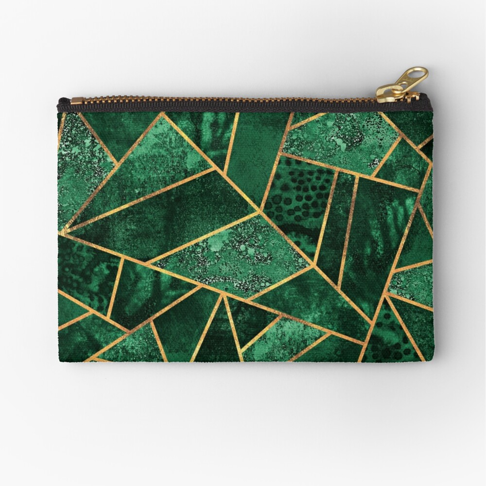 Deep Emerald Zipper Pouch