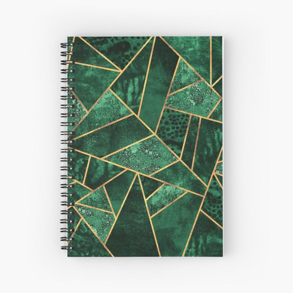 Deep Emerald Spiral Notebook
