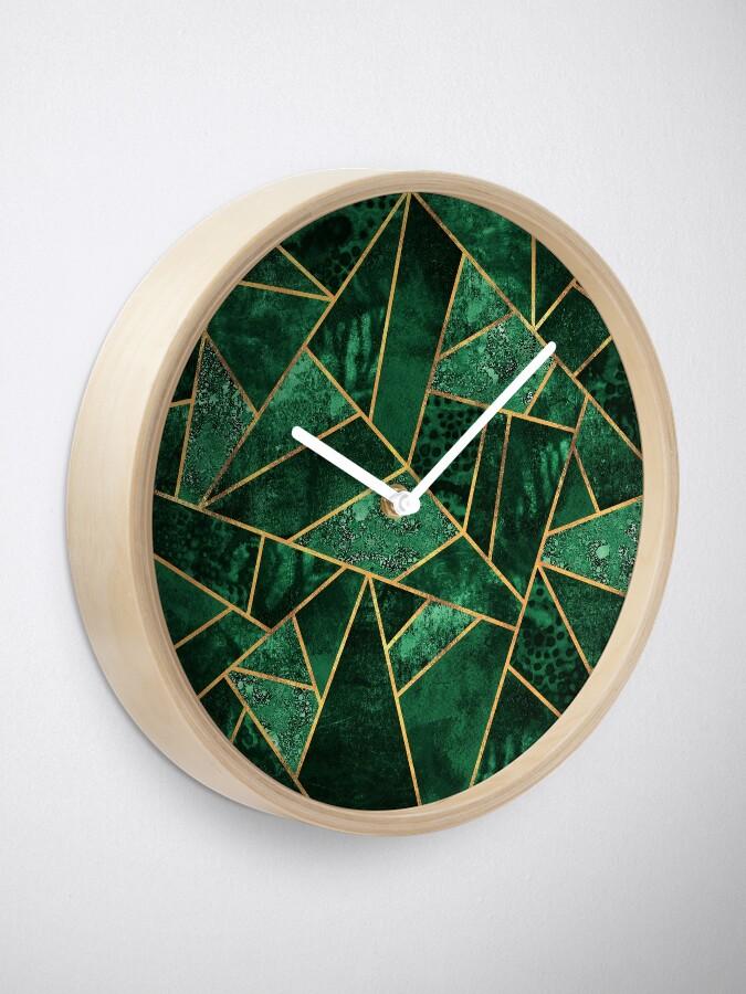 Alternate view of Deep Emerald Clock