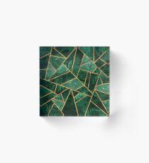 Tiefer Smaragd Acrylblock