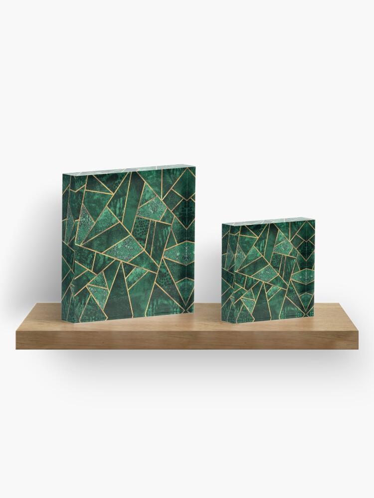 Alternate view of Deep Emerald Acrylic Block